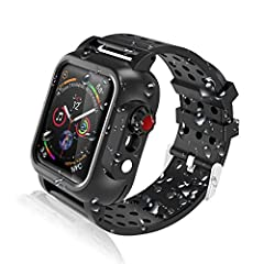 ✔【SPECIALIZED DESIGN】Exclusive design ONLY Compatible with Apple Watch Series 6 | SE *44 mm *2020 Release, Series 5 *44 mm *2019 Release, Series 4 *44 mm *2018 Released. NOT FOR Apple Watch 6 | SE | 5 | 4 40MM. ✔【MULTI-PROTECTIONS】360-degree Full bod...