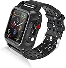 Realproof Waterproof Apple Watch Case 44MM Series 6   SE   5   4 with 3PCS Premium Soft Silicone Band, Dropproof Shockproof Impact Resistant Rugged Protective iWatch Case Bulit-in Screen Protector