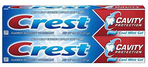Crest Cavity Protection Toothpaste, Cool Mint Gel 6.4 oz (181g) - Pack of 2