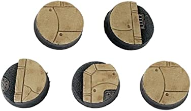 War World Gaming Industry of War Sci-Fi Street Round Bases x 5 (25mm) – 28mm Wargaming Terrain Model Diorama