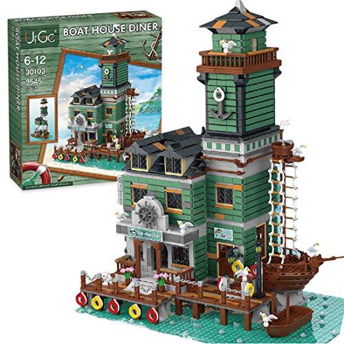 SESAY Haus Bausteine Bausatz, 3545 Teile Modular Fischerhaus Restaurant Architektur Modell, Kompatibel mit Lego 21310 Alter Angelladen