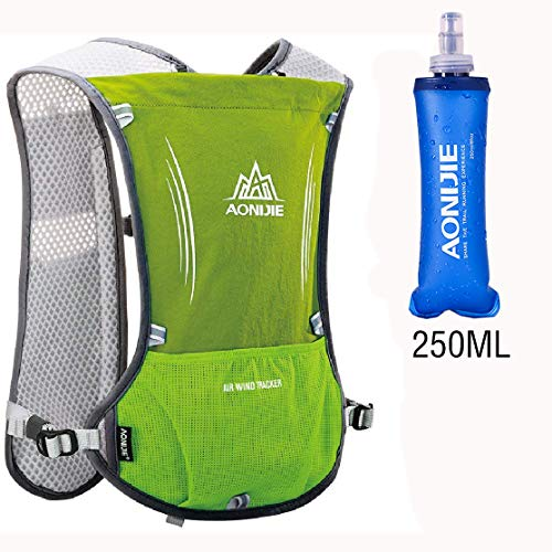 KingBra Sac à dos d'hydratation 5 L en plein air pour marathoner course à pied léger et sans BPA TPU 250/500 ml Bouteilles d'eau pliantes légères et pliables, Mixte, Article 5