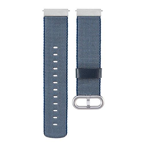 Cinturino universale in nylon da 22 mm per Gear S3 Classic Frontier Pebble Time, Blu, BL