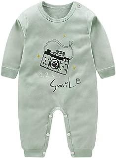 RONSHIN Cartoon Long Sleeve Cotton Jumpsuit for Kids Baby Boys Girls Green 66cm