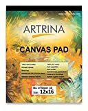 Eascan Art Painting Drawing and Sketch Accessories Artrina Cotton Canvas Painting Pad (12x16 Inches)
