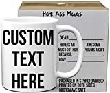 Custom Mugs - Personalized Coffee Mugs with Elegant Quality Photo and Text Printing   11 Oz White Ceramic Coffee Mug   Tazas Personalizadas - Design Your Own Custom Coffee Mug Gift for Any Occasion