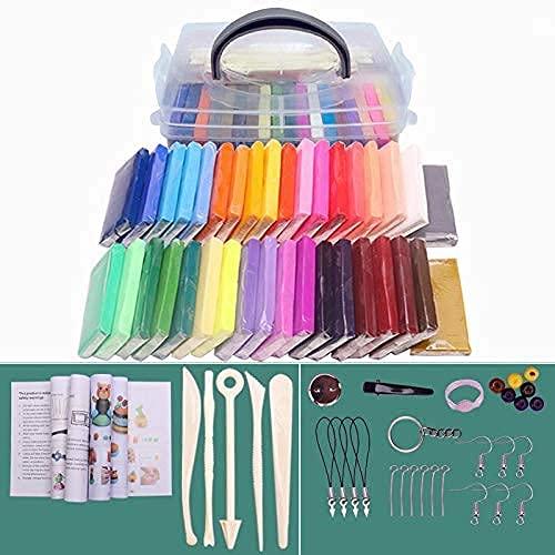 Queta 32 Colores Arcilla Polimérica Plastilina Seguro no tóxico y Suave 500g...