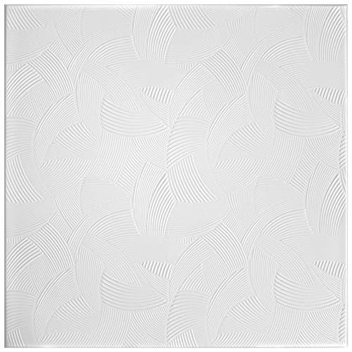 1 Qm | Panneaux pour Plafond | XPS | Formfest| Hexim | 50x50cm|Nr.100