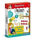 Clementoni- Sapientino- I Numeri Tessere Illustrate, Multicolore, 12895...