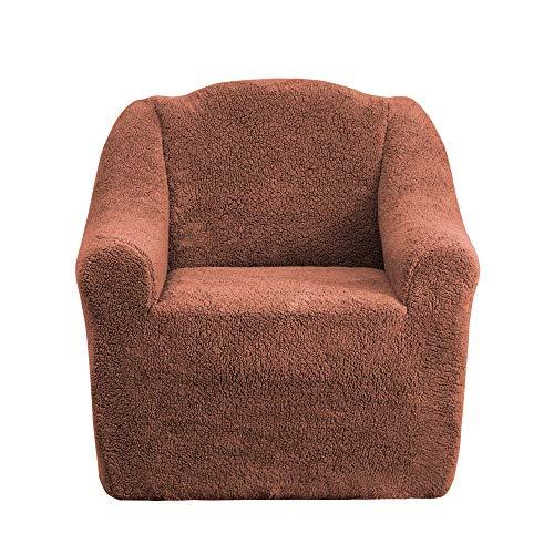 Mixibaby Sofabezug Sofahusse Sesselbezug Sitzbezug Sesselüberwurf Husse 1er Sofa Wellsoft, Farbe:Rostbraun