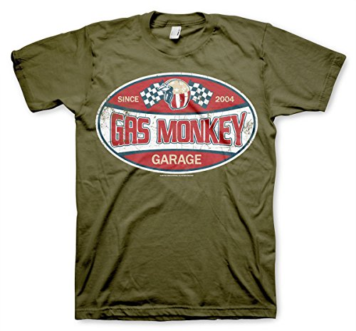Oficialmente Licenciado GMG Since 2004 Label Hombre Camiseta (Verde Oliva), Medium