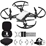 DJI Tello Quadcopter Beginner Drone VR HD Video Bundle with Tello Spare Battery, Custom DJI Tello Protective Carrying Case and VR Viewer for 3.5 Inches