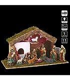 Belén de Navidad luminoso completo Saint-David