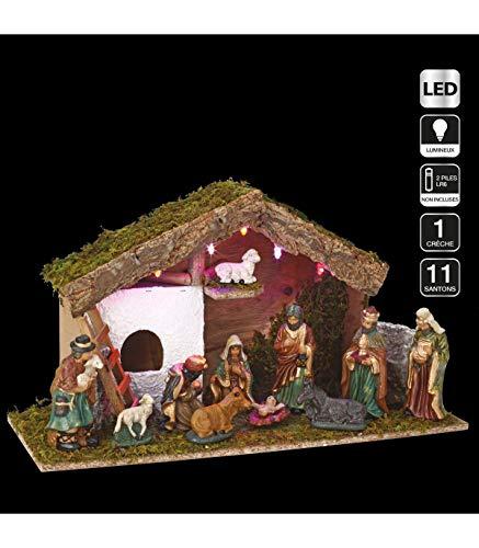 Weihnachtskrippe, beleuchtet, vollständig, Heiliger David