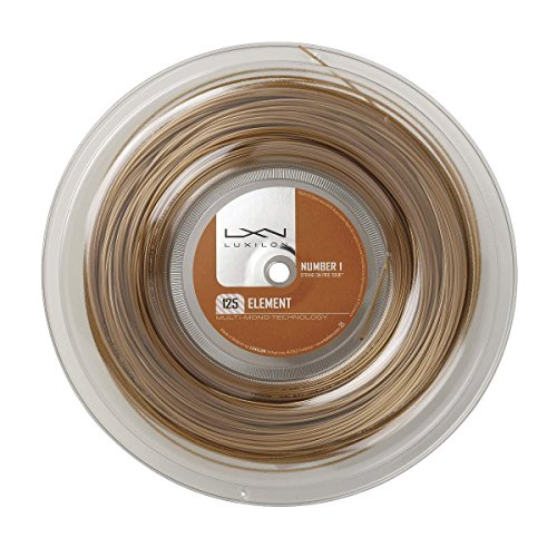 Luxilon Tennissaite, Element, 12,2 Meter, Bronze, 1,25 mm, Unisex, WRZ990105
