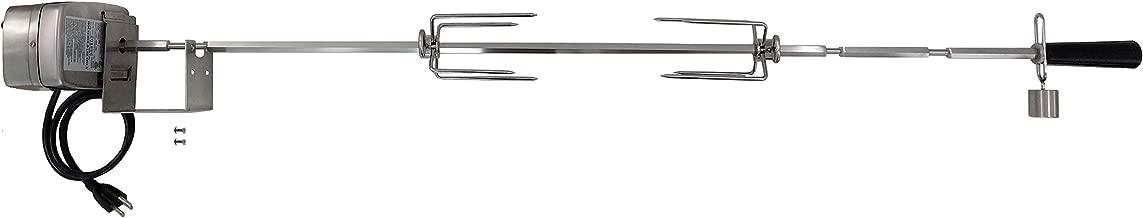 OneGrill Weber Fit Stainless Steel Complete Grill Rotisserie Kit W/ 13 Watt Electric Motor; 1/2 Inch Hexagon Spit Rod (Fit: 400 Series 4 Burner Weber Genesis II E-410, E-435, S-435 LX E-440, LX S-440