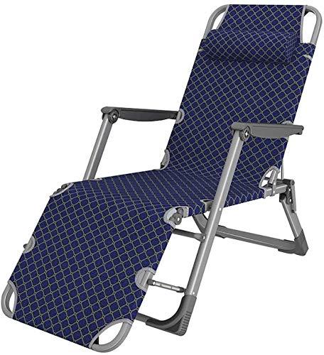 JJSFJH Plegable Silla de Gravedad Cero, al Aire Libre sillón, Oxford Tela, de Color Azul Oscuro, tamaño: sin colchón