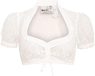 MarJo Trachten Damen Trachten-Mode Dirndlbluse Becca-Lauren in Creme traditionell
