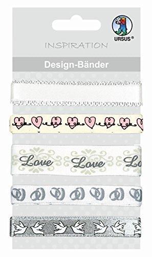 Ursus 74510010 - Inspiration Design-Bänder Hochzeit, 5 verschiedene Motive, 90 cm
