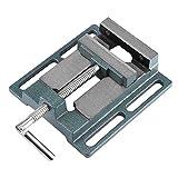Tornillo de banco para taladro de columna banco Alicate Etau apertura paralelo mesa tornillo de banco, apertura de mordaza 110mm, ancho de interiores (20mm)