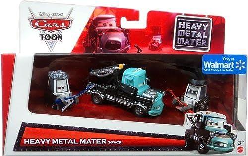 Disney   Pixar CARS Movie Exclusive 3-Piece 1 55 Scale Die Cast Set Heavy Metal Mater [Eddie, Heavy Metal Mater & Rocky] by Disney