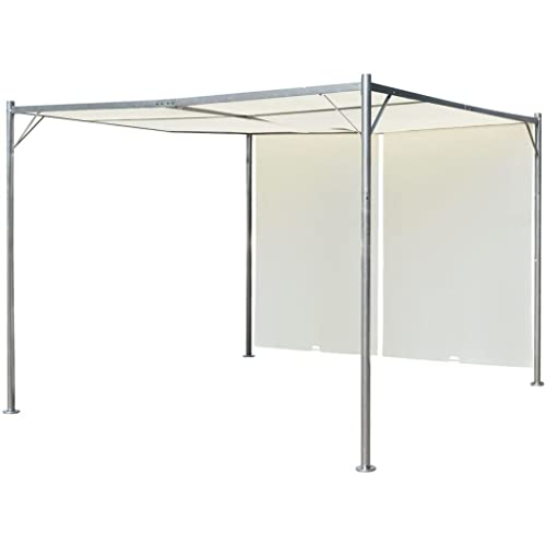 vidaXL Garden Pergola Adjustable 9.8'x9.8' Gazebo Outdoor Canopy Shade Roof