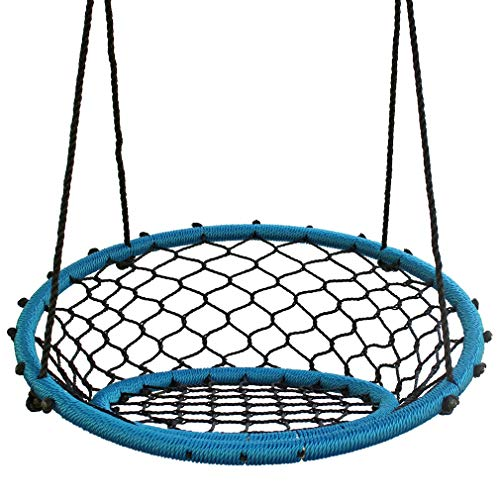 KL KLB Sport Spider Web Chair Swing 35 Inch Outdoor Tree Swing for Adults Kids with 2 Hanging Straps and Adjustable Ropes