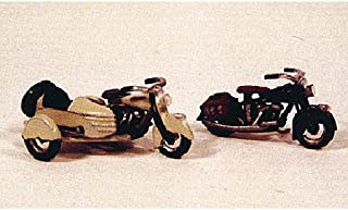 CLASSIC 1947 MOTORCYCLES (2) - JL INNOVATIVE DESIGN HO SCALE MODEL TRAIN ACCESSORIES 904