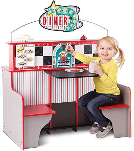 Melissa & Doug Double-Sided Wooden Star Diner Restaurant Play...