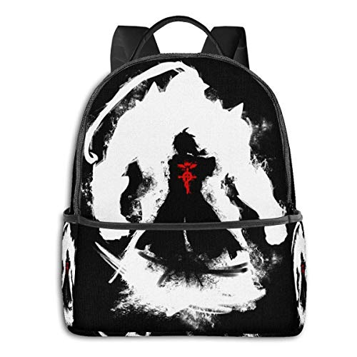 IUBBKI Anime & Elric Brothers - Fma Student School Bag School Cycling Leisure Travel Camping Outdoor Backpack