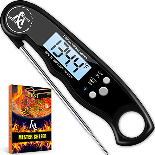 Instant Read Thermometer Best Waterproof...