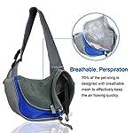 BIGWING Style Pet Sling Carrier for Dog Cat Pets Travel Shoulder Bags (L, Blue) 12