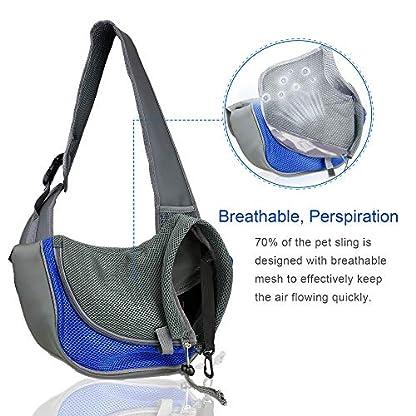 BIGWING Style Pet Sling Carrier for Dog Cat Pets Travel Shoulder Bags (L, Blue) 4