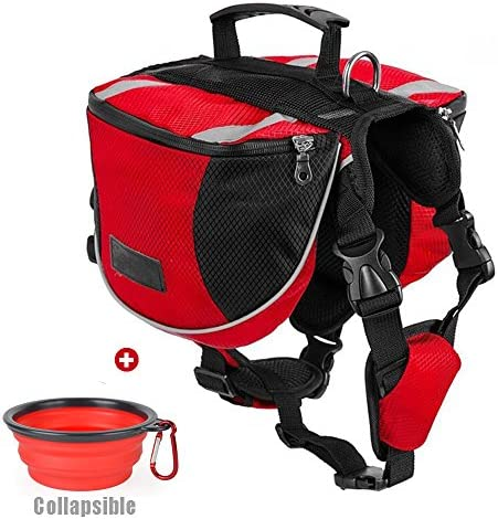 Lifeunion Polyester Dog Saddlebags Pack Hound Travel Camping Hiking Backpack Saddle Bag for product image