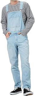 Men Denim Overalls Casual Pants Loose Pants Bib Pants Men's Fashion Hip Hop Jumpsuit Bib Pants,Light Blue,M