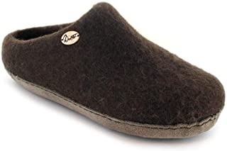WoolFit Handmade Slippers for Men and Women with Arch Support Wool Footbed and Soft Floor-Friendly Sole