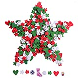 Sumind 80 g Wooden Buttons Christmas Mixed Size Sewing Button DIY Craft Decoration, Mixed Color (Office Product)