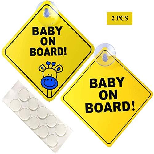 N/D - 2 señales de bebé a bordo para coches, más gruesas...