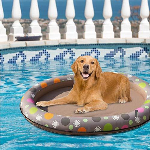 Zakjj Piscina para Perros Flotador Balsa para Perros Paseo En Balsas De Piscina Juguete Piscina para Perros Flotador Mascotas Inflables para Verano Juegos De Agua Al Aire Libre
