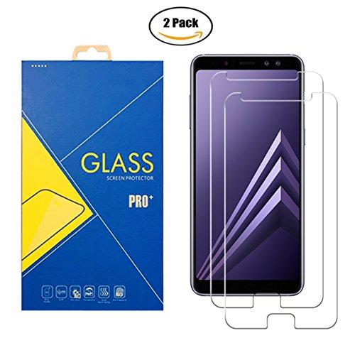 ILeaf [2 Pack] Pellicola Vetro Temperato Compatibile Samsung Galaxy A8 2018/A5 2018/SM-A530F/A530F - Schermo Antiurto Antigraffio