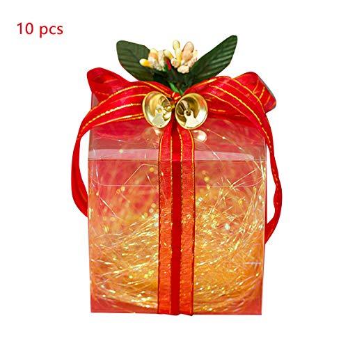 non Weihnachten Thema Süßigkeiten Geschenkboxen DIY Geschenk Behandeln Boxen mit Bändern Transparente Süßigkeiten Schokolade Fall für Gebäck Kuchen Cupcakes Pie3. 94X3. 94X3. 94In