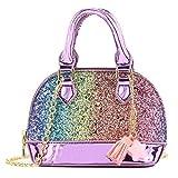 Mibasies Glitter Toddler Purse for Little Girls Mini Kids Crossbody Handbag Shoulder Bag Age 2-8 (rainbow)