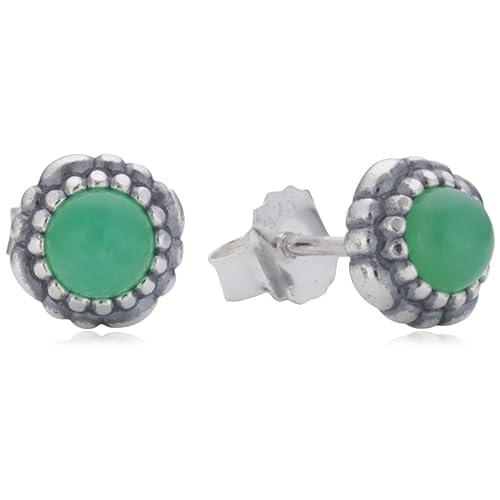d1a7a8ae0 Pandora Women's Silver Pearl Aquamarine Earrings