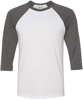 Joe's USA - Three-Quarter Sleeve Baseball Raglan Shirts in 21 Colors. XS-2XL