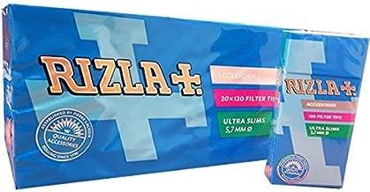 Rizla Filtri Poppatips, 1 Scatola  (20 Pacchetti, 20 X 120 filtri)
