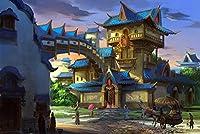 3000ピースパズル城アートレジャーゲームおもちゃ家の装飾87 * 110cm