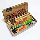 Smo-King Pack Raw avec boîte à tabac Raw classique, feuilles à rouler et filtre en verre exclusif