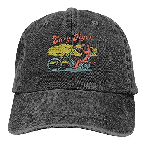 DRXX Easy Tiger Casquette Sombrero de Vaquero para Hombre Sombreros de Vaquero portátiles Negros para Hombre