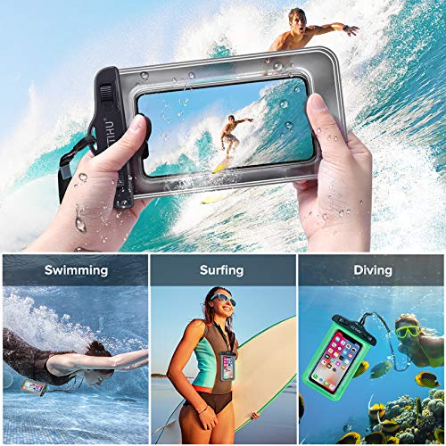 Cell phone Waterproof bag Rainproof dust-proof waterproof phone case seal Diving suit Touchable Apply to diving/Swim/Rainy day,Blue