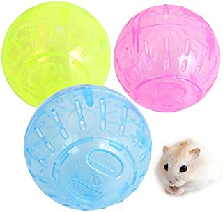 Pet Rodent Mice Jogging Hamster Gerbil Rat Toy Plastic Exercise Ball Lovely Toy Funny Ball For Hamster Hedgehog Rat Squirrel Guinea Pig Rabbit Pet Supplies (Random)